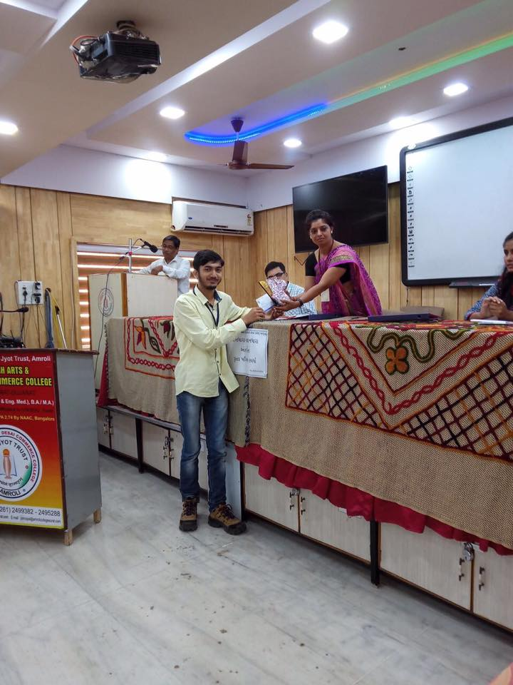 Winner in Book Review Competition at Amroli College