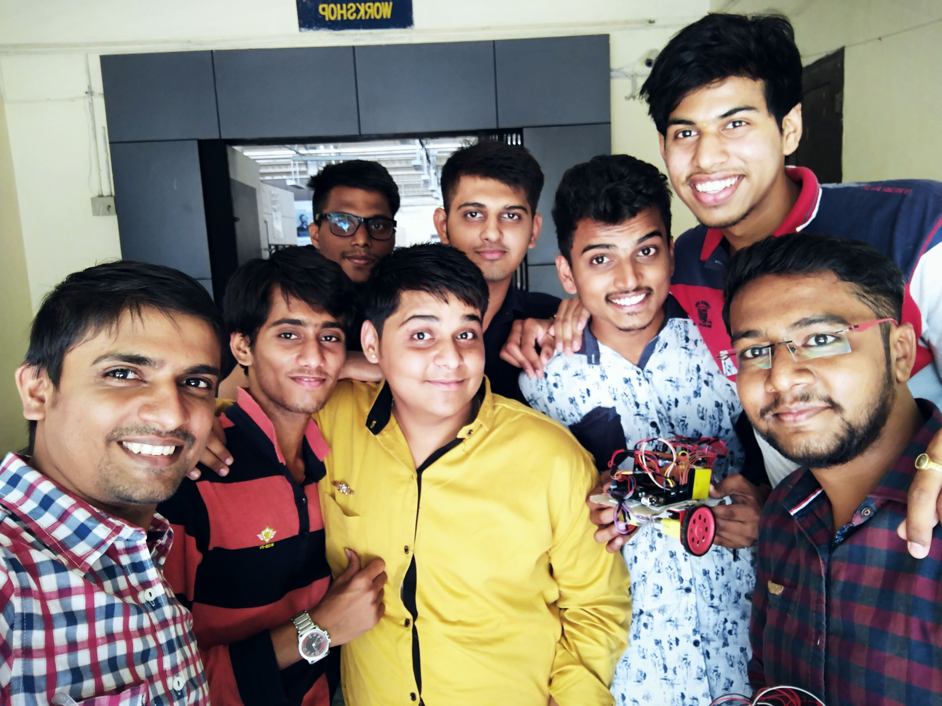 Final year students from Electronics Department have won 3rd Prize in Line Follower at GTU Tech - Fest